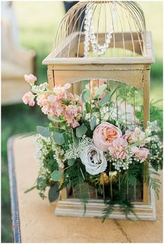 Wedding Birdcage   Little Miss Lovely Floral Design   Leah Adkins Photography   see more at http://fabyoubliss.com