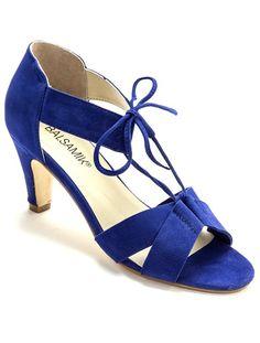 Sandales Pour Les Femmes En Vente, Bleu Cobalt, Velours, 2017, 41 Miu Miu