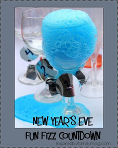 New Year's Eve countdown Fun Fizz for kids - We did this last year and our kids LOVED it!