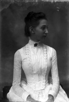 c. 1880s State Archives of Florida. White summer dress, probably cotton.
