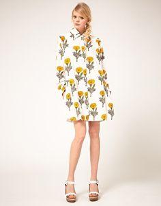 Ashish Shirt Dress in Marigold Print from ASOS