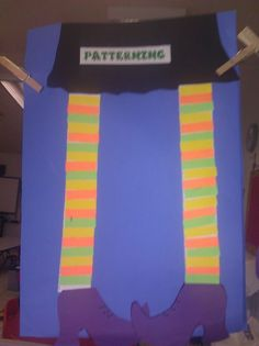Look at this cute Halloween themed craft for math patterning.....Witches legs!!!! So cute!