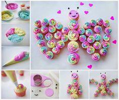 Γλυκές Τρέλες: Τούρτες γενεθλίων με cupcakes!#.VB3QtJVxnmJ#.VB3QtJVxnmJ