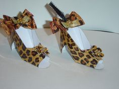 Mini Cheetah print high heel shoes - THESE ARE SOOOO ADORABLE!! Available at VMLDesignStudio.com