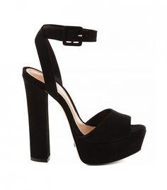 Schutz Amatista Heels with ankle strap in black