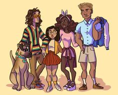 """eightmoose: """"damn those meddling kids """" Black Cartoon Characters, Black Girl Cartoon, Black Girl Art, Cartoon Art, Be Cool Scooby Doo, Scooby Doo Mystery Incorporated, Daphne And Velma, American Cartoons, Black Artwork"""