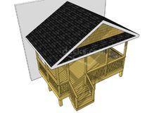 16 x 10 covered deck