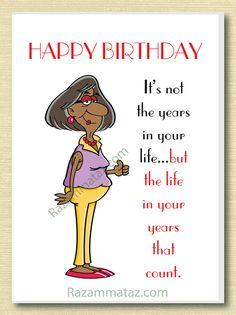 African American Female Birthday Card B