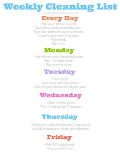 Do you need help with cleaning? Here's a daily cleaning schedule with a blank free printable to fill out your own schedule!