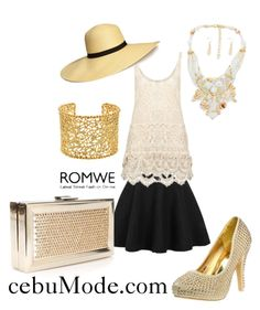 """black Skirt Boho 5"" by cebumode ❤ liked on Polyvore featuring H&M and Brooks Brothers"
