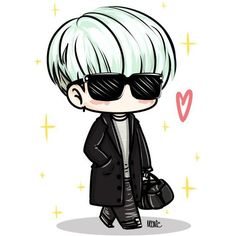 Fanart found on Polyvore featuring polyvore, bts, fillers, drawn fillers, kpop and yoongi