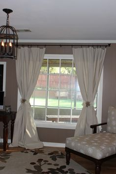 Drop Cloth Curtains with tutorial, love!