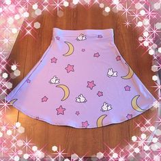 Sailor Moon jupe, jupe Fairy Kei, pastel goth, flare jupe, jupe sailormoon, jupe pastel - sur commande