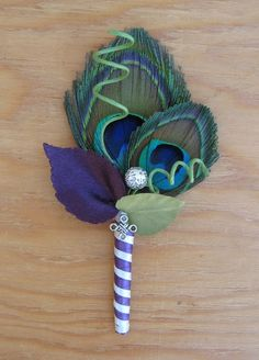 Design your own GROOMS Double Peacock feather by ericacavanagh, $13.50