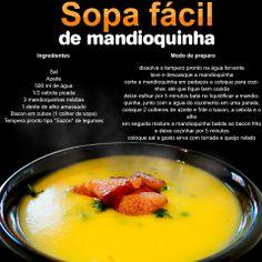 Que tal uma Sopa de mandioquinha ??Uma receita muito fácil, e super deliciosa !!!!