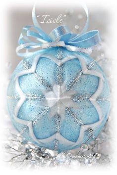 Sparkling Pale Blue Ornament