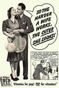 Ah, the good ol' days of sexism in advertising. Check out these vintage sexist ads from the & Real men & housewives, they'd be funny if they weren't real Vintage Humor, Funny Vintage Ads, Pub Vintage, Funny Ads, Hilarious, Poster Vintage, Funny Pranks, Vintage Images, Funny Jokes