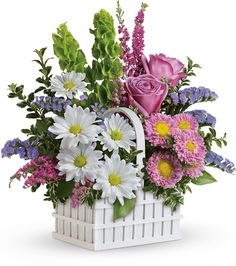 Teleflora's White Picket Bouquet