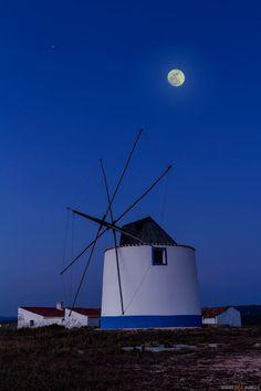 ☺Moon and windmil Mystic Moon, Windmill, Moonlight, Wind Turbine, Sky, Night, Heaven, Heavens