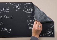 "Chalkboard Wall Refrigerator Decal Removable Reusable Kids Blackboard Sticker (48"" x 24"") by Innovative Stencils. $24.99"