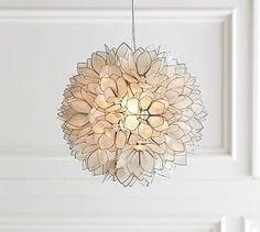 Capiz Pendant #potterybarn $250 Potential replacement for downstairs chandeliers