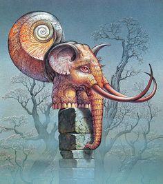 I have always loved this picture. Patrick Woodroffe - Mythopœikon [hermit elephant] by myriac, via Flickr