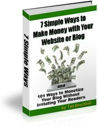 7 Simple Ways to Make Money with Your Website or Blog and 101 Ways to Monetize Your Blog Without Irritating Your Readers #blogging #internetmarketing