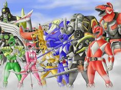 Amazing Power Rangers Season 1 Fan Art