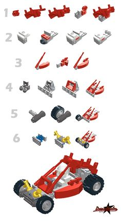 ckeck the original and please let me know if you made it or used it as a base for some different crazy buggies! Lego Mecha, Lego Bionicle, Legos, Lego Dragon, Lego Creative, Classic Lego, Bored Kids, Lego System, Lego Design