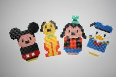 Mickey Mouse and friends hama perler by Gute-Laune Shop