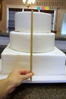 DIY WEDDING CAKE  Want to learn how to make your own wedding cake. Check out this tutorial at Artsy-Crafty Mom