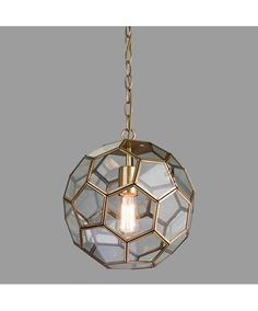 The Neptune Pendant Ceiling Light is made up of hexagonal glass panels which are framed by antique brass finished steel. The Chain suspension and ceiling rose are also finished in antique brass. Brass Ceiling Light, Industrial Ceiling Lights, Modern Led Ceiling Lights, Ceiling Rose, Ceiling Light Living Room, Glass Ceiling, Large Pendant Lighting, Brass Pendant Light, Globe Pendant