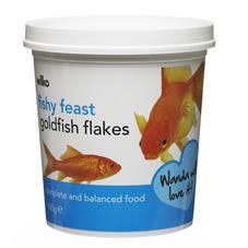 Wilko Fishy Feast Goldfish Flakes 100g