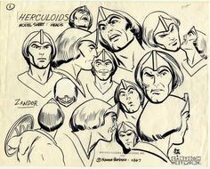 Zandor's head model sheet.  By Alex Toth.