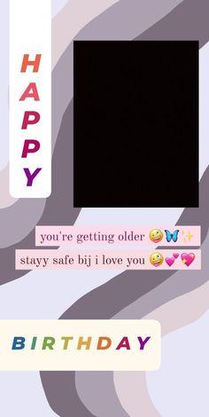 Happy Birthday Template, Happy Birthday Frame, Happy Birthday Posters, Happy Birthday Wallpaper, Birthday Frames, Happy Birthday Best Friend Quotes, Love Birthday Quotes, Birthday Captions Instagram, Birthday Post Instagram