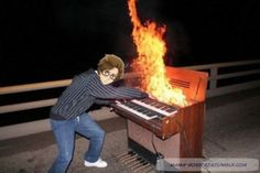 Like a Bosstria<--- this is what he was doing while Gilbert was cooking hot dogs over a fire with a rake XD