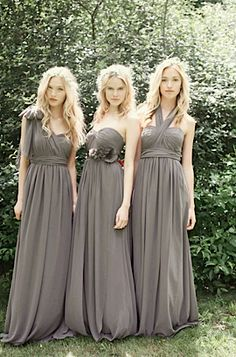 bridesmaid dresses with various tying options