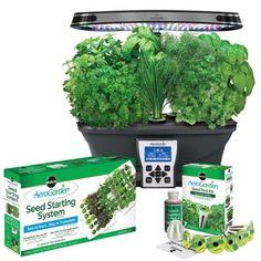 AeroGarden – Jardin intérieur Ultra à DEL avec semences pour fines herbes et trousse de semis en prime