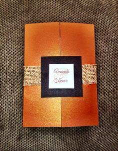 Tropical Wedding Invitation in copper bronze by RitzyInvitations, $25.00