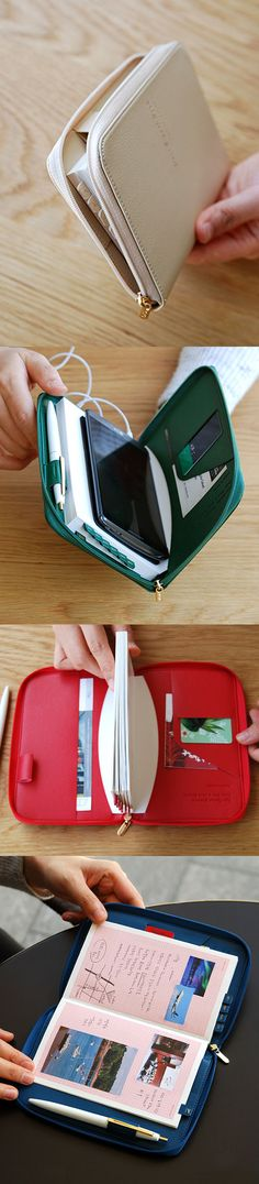 Smart, cute, AND useful! The 2017 Days Zipper Book Scheduler is the all-in-one dated planner you've been looking for. This cutie comes in a zippered case! The planner has all the yearly, monthly, weekly, and note pages you need. The luxurious cover features 2 pockets, 1 card slot, and a pen holder! The pockets can fit your passport, memos, and US bills. Hold up to an iPhone 7 Plus inside the zippered case, too! Carry all your daily necessities with ease & check it out!