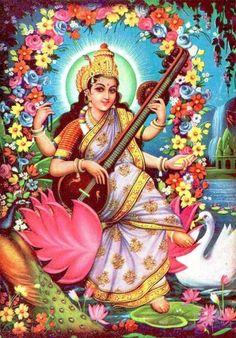 Prints, Posters & Paintings, Hinduism, Religion & Spirituality, Collectibles Page 31 Saraswati Goddess, Shiva Shakti, Saraswati Vandana, Durga Maa, Saraswati Photo, Indian Goddess, Ganesha Art, Lord Ganesha, Spirituality
