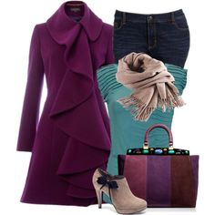 Ruffled Coat, created by lbite1 on Polyvore