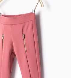 Image 3 of Ponte di roma trousers from Zara Casual Work Attire, Women's Casual, Cute Casual Outfits, Zara, New Pant, Gym Leggings, Sports Women, Fashion Pants, Joggers