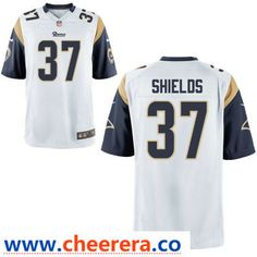 Men s Los Angeles Rams  37 Sam Shields White Road Stitched NFL Nike Game  Jersey 662ceb419