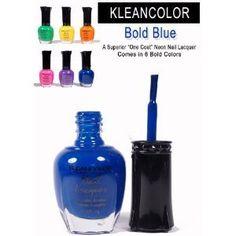 Kleancolor - Nail Polish - Neon Sapphire by mad4cosmetics,  $1.31  http://www.amazon.com/dp/B002K46JIQ/ref=cm_sw_r_pi_dp_mi6Ypb16WN88Z