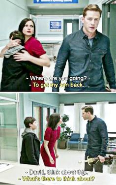 I loved how David didn't hesitate to go get his son back. He had already lost Emma as a baby and was so determined to get his new son back and not lose him, like Emma.