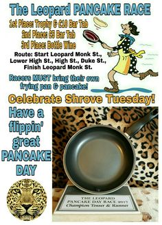 Happy Shrove Tuesday! Tonight at 7.30pm the great & gallant Tossers of Tutbury will be competing for honour, glory, three great prizes & the much coveted trophy, in The Leopard Tutbury PANCAKE RACE. It's also FREE JUKEBOX TUESDAY & RETRO GAMES NIGHT so there'll be music to aid the post-race celebrations & console games to keep everyone amused! #theleopard #shrovetuesday #pancakerace #theleopardtutbury #pancakes #tutbury #freejukebox #retrogamesnight #retroconsolegames…