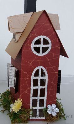 Tim Holtz Village Dwelling by Deonna Hotovec.  Dies on sale at Creek Bank Creations.com