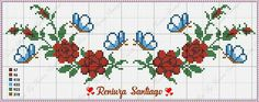 Cross Stitch Boarders, Butterfly Cross Stitch, Cross Stitch Rose, Cross Stitch Flowers, Filet Crochet, Beading Patterns, Bookmarks, Bullet Journal, Embroidery