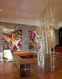 Graffiti Graphic Walls - Applegate Tran Interiors Showcase